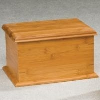 Bamboo Rectangle Wooden Urns for Ashes