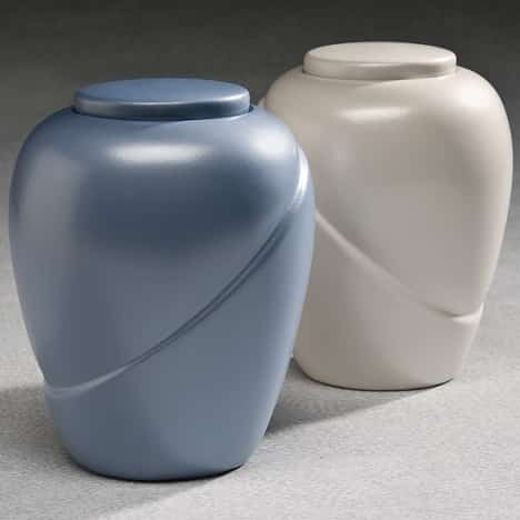Glacial White Biodegradable Urn