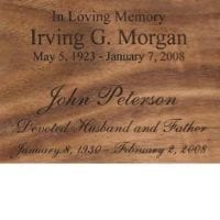 engraving for wood urns
