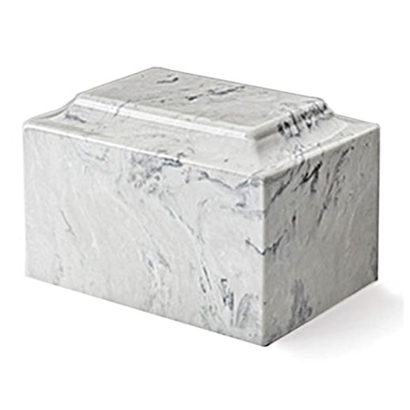 White Marble Urn for Ashes