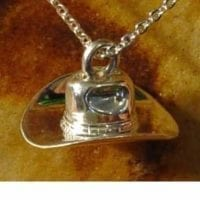 Cowboy Hat Necklace for Ashes