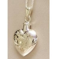 Etched Heart Urn Necklace