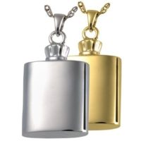Men's Flask Cremation Jewelry