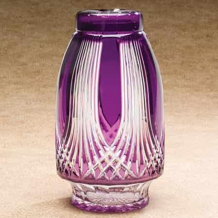 Gothic Glass Purple Urn Amethyst