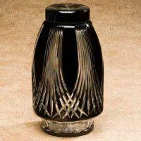 Gothic Glass Urn Black