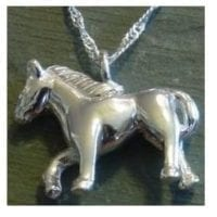 Horse Urn Necklace