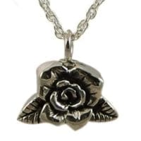 Rose Cremation Jewelry Necklace