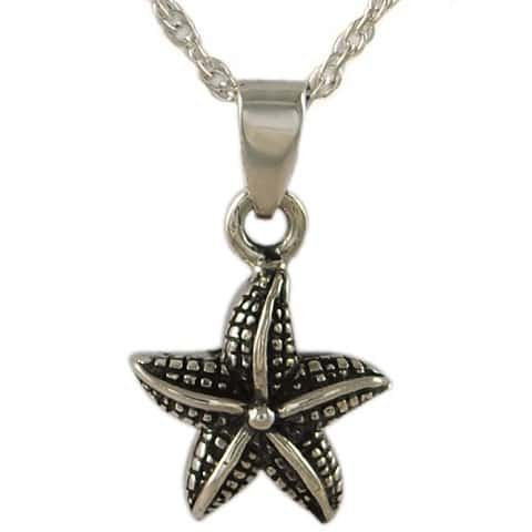 Starfish cremation urn necklace for Fish urn necklace
