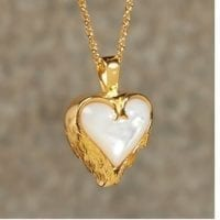Angel Wings Mother of Pearl Cremation Necklace
