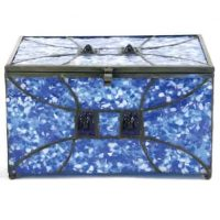Memory Chest Glass Urn Sapphire
