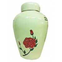 Red Rose Biodegradable Urn