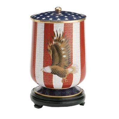 American Flag with Eagle Urn
