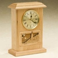 Light the Way Clock Wood Cremation Urns