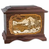 Mountain Lakes Wood Cremation Urns