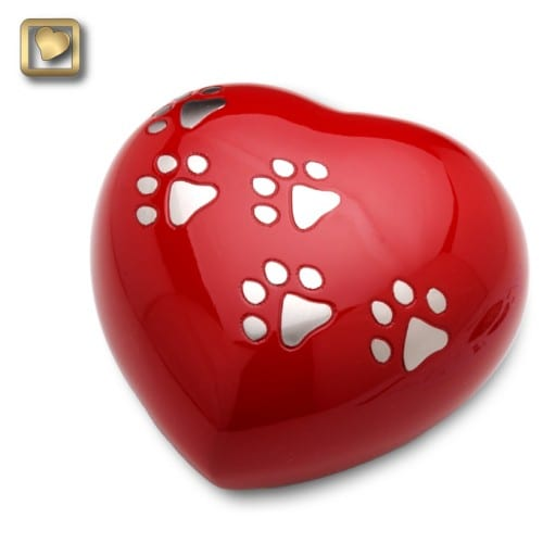 Red Heart Pet Urn Large