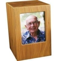 Photo Urn Birch Finish