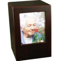 Cherry Finish Picture Urn
