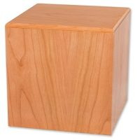 Cube Natural Cherry Wooden Urns for Ashes