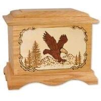 eagle wood cremation urn