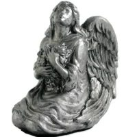 Pewter Finish Angel Urn Keepsake