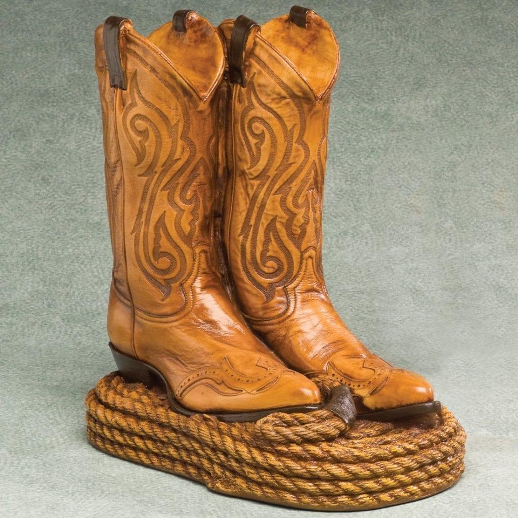 Cowboy Boots Funeral Urn