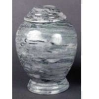 Marble Urn Gray and White
