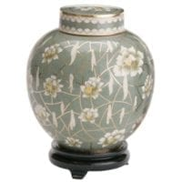 Pear Blossom Small Cloisonne Urn