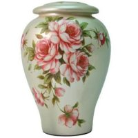 Roses Bouquet Ceramic Urn