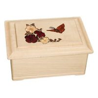 Maple Butterfly Wooden Urns for Ashes U-15