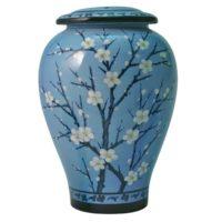 Plum Blossom Ceramic Urn