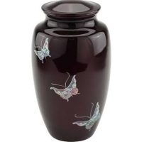 Butterfly Mother of Pearl Urn