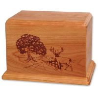 Newport Heartland Deer Wooden Urns for Ashes