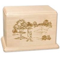 Golfer Urn Maple