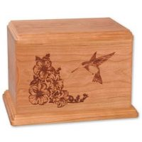 Hummingbird Wooden Urns for Ashes Newport