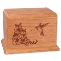 Hummingbird Wooden Urns for Ashes Newport