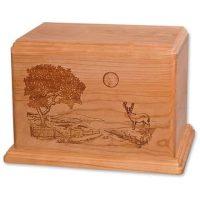 Newport Heartland Deer Wooden Urns for Ashes