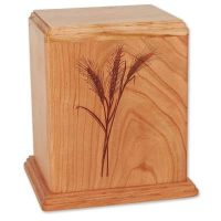 Newport Wheat Wooden Urns for Ashes