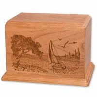 Soft Breezes Wood Urn