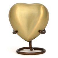 Brass Heart Urn