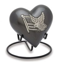 Eagle with Flag Heart Urn