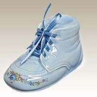 Baby Bootie Urn Blue