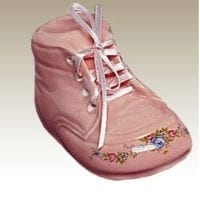 Baby Bootie Urn Pink