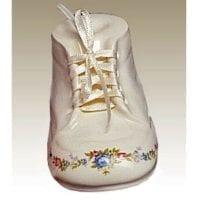 Baby Bootie Urn White