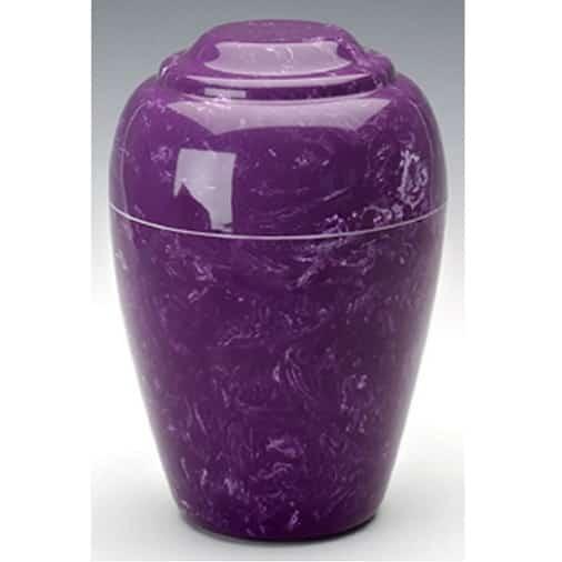 Purple Grecian Marble Urn