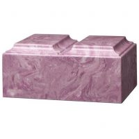 Marble Urn for Two Purple