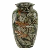 Camouflage In the Woods Cremation Urn