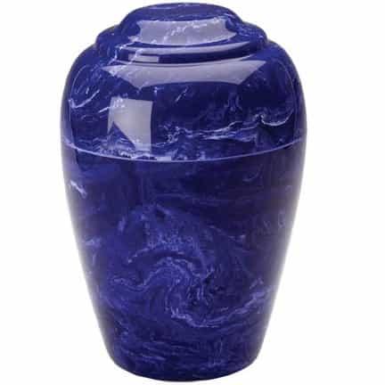 Cobalt Blue Grecian Marble Cremation Urn