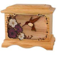 Oak Hummingbird Wood Cremation Urns Ambassador