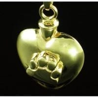 Heart with Paw Cremation Necklace