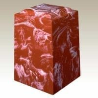 Red Aegean Marble Cremation Urn